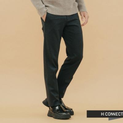 H:CONNECT 韓國品牌 男裝-簡約混織西裝長褲-藍