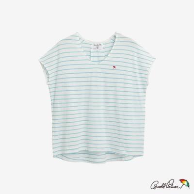 Arnold Palmer-女裝-提織條紋上衣-藍