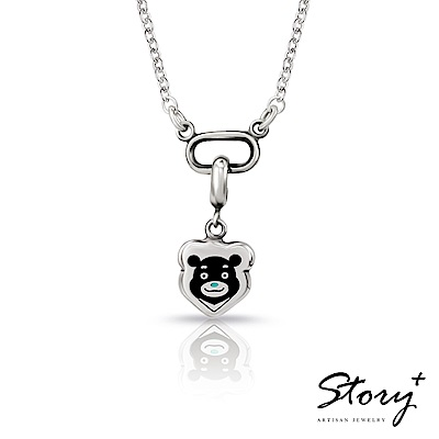 STORY故事銀飾-熊讚大頭 扣扣純銀項鍊 @ Y!購物