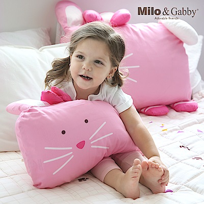 Milo&Gabby動物好朋友-超細纖維防蹣抗菌mini枕心+枕套組(LOLA芭蕾舞兔兔)
