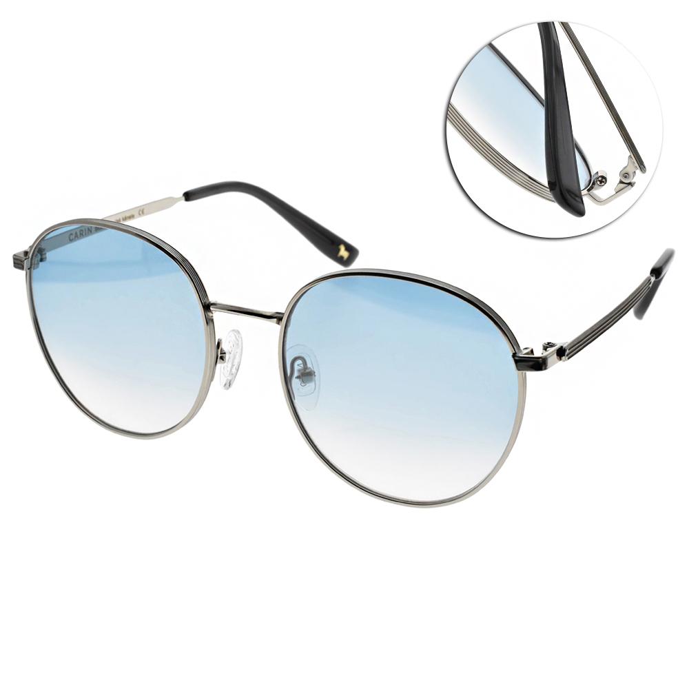 CARIN太陽眼鏡 秀智代言 造型圓框款/銀-漸層藍 #KATHARINE C4