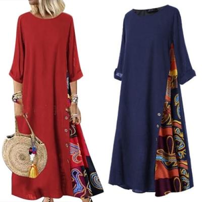 【KEITH-WILL】(預購)自然知性寬鬆版棉麻洋裝(共2色)