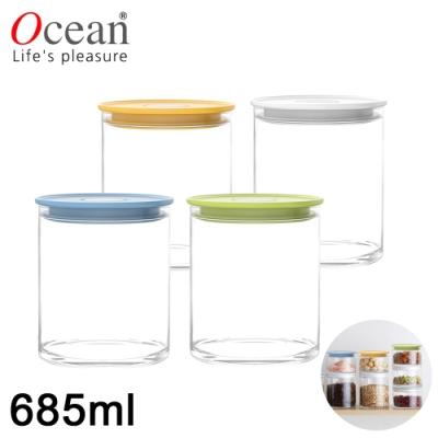 OCEAN NORMA系列儲物/儲存玻璃真空罐685ML-四入/組