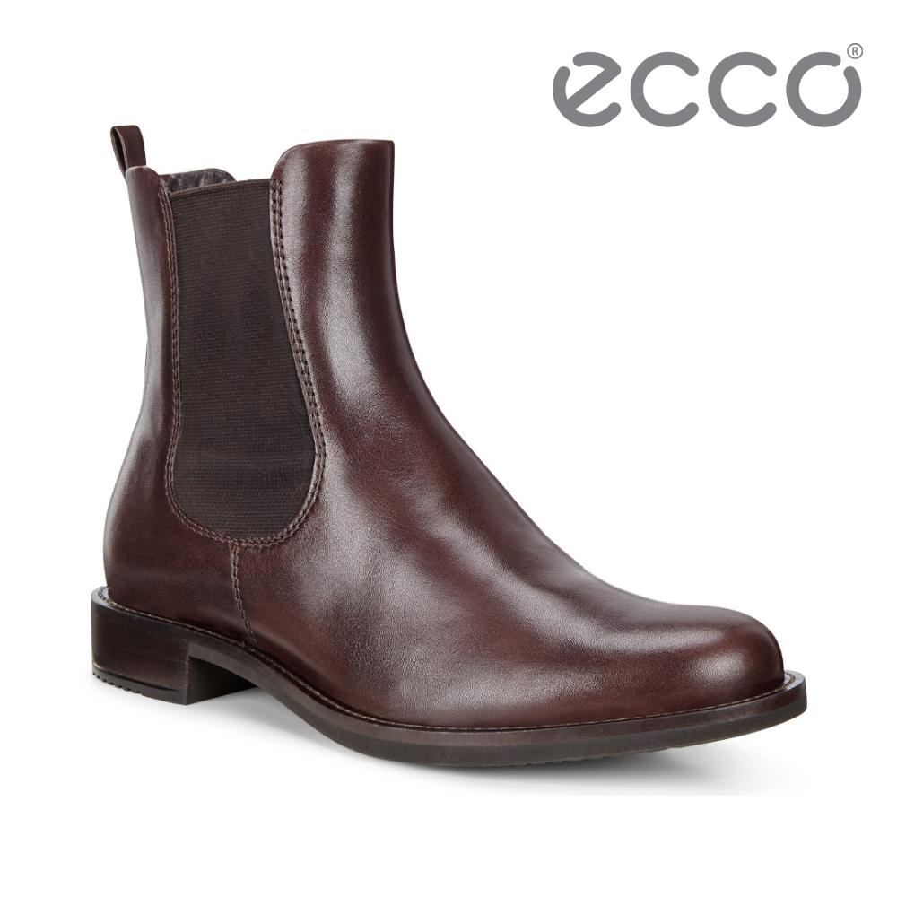 ECCO SARTORELLE 25 經典帥氣切爾西短靴 女-棕色