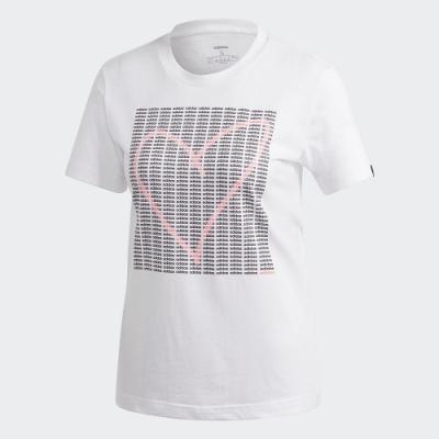 adidas 短袖上衣 運動 訓練 休閒 女款 白 GD4996 W ADI HEART T