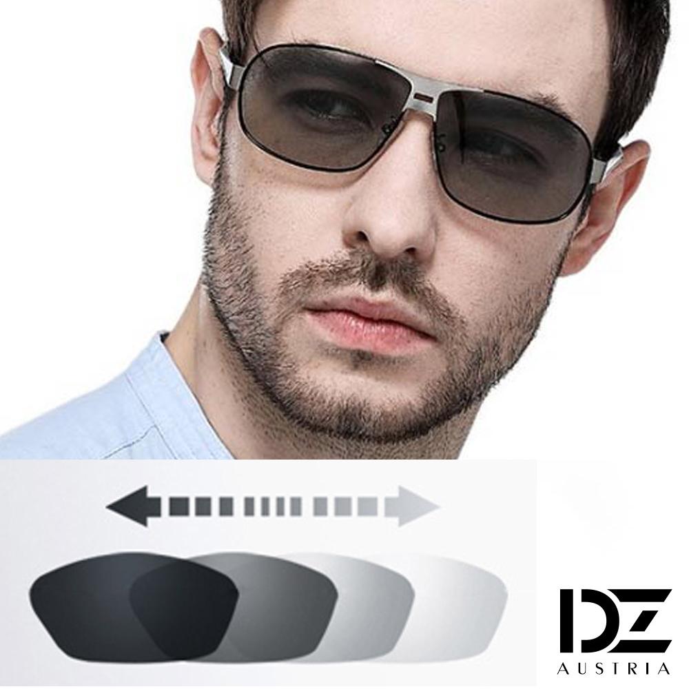 DZ 悍將個性變色片 抗UV 偏光 太陽眼鏡墨鏡(黑框)