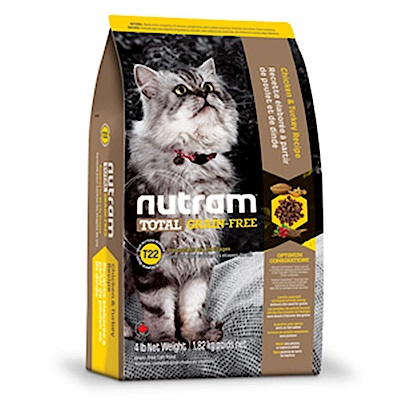 Nutram紐頓 T22 無穀挑嘴全齡貓(火雞+雞肉)配方 6.8KG