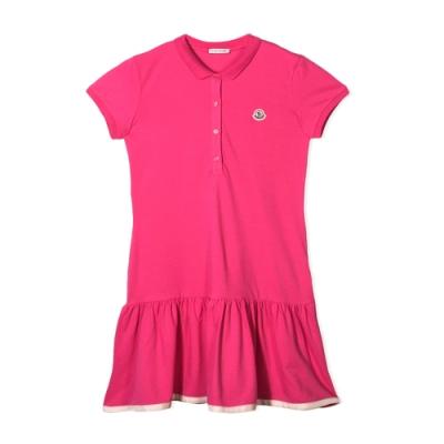 MONCLER童裝桃紅長版傘狀連身裙