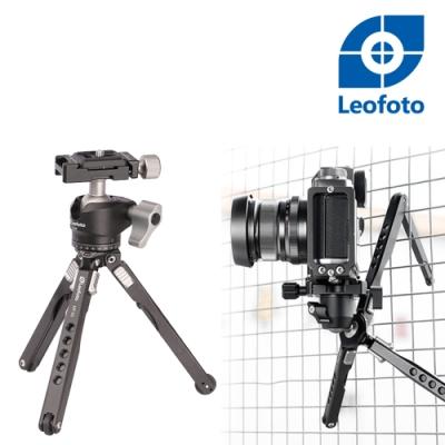 Leofoto 徠圖 MT-03+LH-25鋁合金蜘蛛桌面迷你兩節三檔攝影三腳架