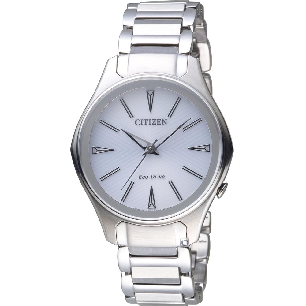 CITIZEN 幾何時尚Eco-Drive腕錶(EM0597-80A)37mm