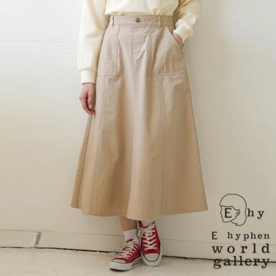 E hyphen 棉質口袋ALINE剪裁長裙