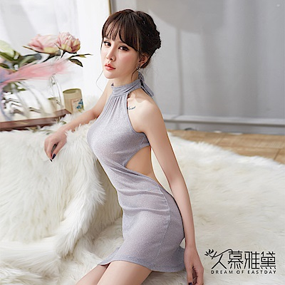 性感睡衣 優雅性感閃光連身裙睡衣。灰色 久慕雅黛