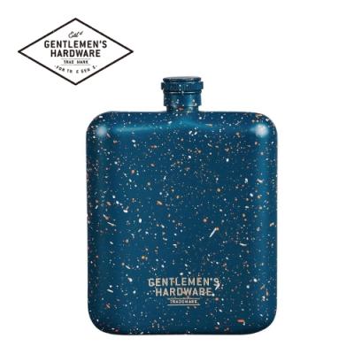 【Gentlemen s Hardware】藍色潑漆隨身酒瓶