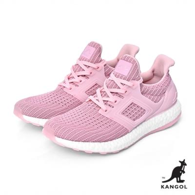 【KANGOL】編織彈性全能輕量運動鞋-女-粉