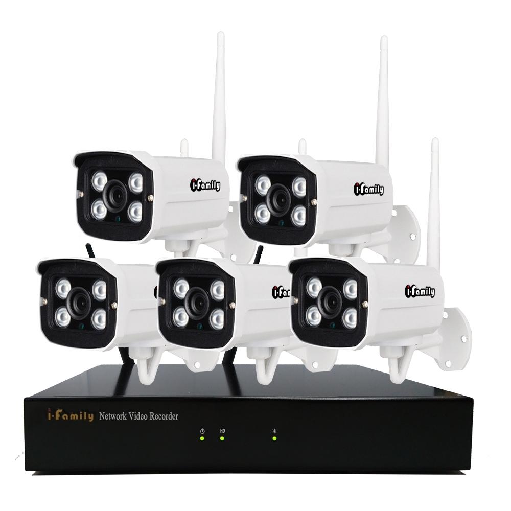 I-Family免施工免設定3百萬畫素八路式無線監視錄影套裝組NVR+五鏡頭