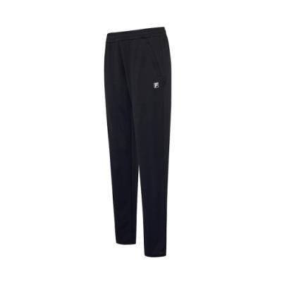 FILA 女抗UV吸濕排汗針織長褲-黑 5PNV-1323-BK
