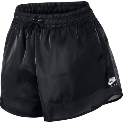 NIKE 運動短褲 女款 絲質 黑 CU5521010 AS W NSW AIR SHORT SHEEN