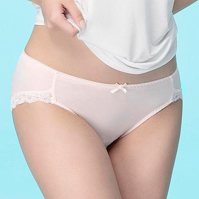 莎薇-冰涼紗  M-LL 低腰三角內褲(粉)舒適包臀