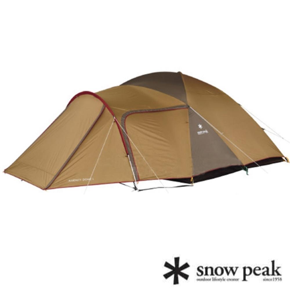 Snow Peak 新款 Amenity 6人寢室鋁合金家庭露營帳蓬