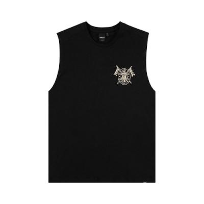 Deus Ex Machina Lapped Muscle 無袖T恤-黑