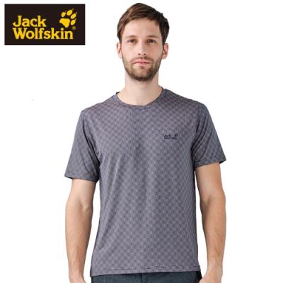 【Jack Wolfskin 飛狼】男 圓領短袖排汗衣 T恤『深灰』