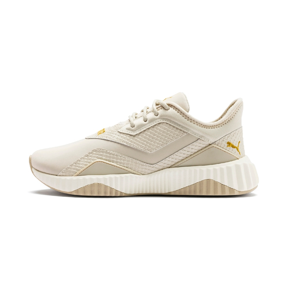 PUMA-Defy Stitched Croc Wn's女性訓練運動鞋-雲粉灰