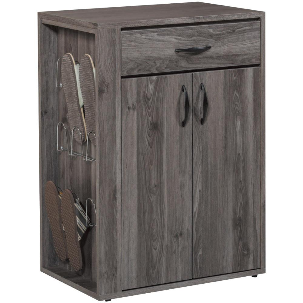 綠活居 馬卡2尺二門單抽鞋櫃(二色可選)-60x40x84.5cm免組