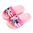 迪士尼童鞋 米妮 立體造型防水拖鞋-粉