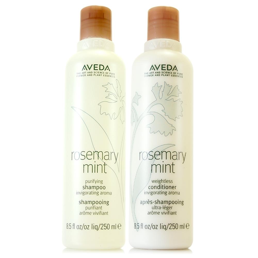 AVEDA 迷迭薄荷洗髮精250ml(全新改版)+迷迭薄荷潤髮乳250ml(全新改版)