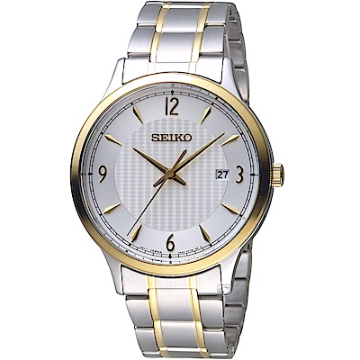 SEIKO精工CS系列經典雋永腕錶(SGEH82P1)-銀x金