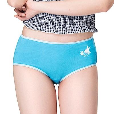 嬪婷-可愛內褲 天絲棉 M-2L 低腰三角褲(派對藍)透氣包臀