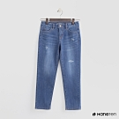 Hang Ten - 女裝 - 微刷破造型牛仔八分褲 - 藍