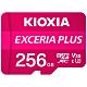 KIOXIA EXCERIA PLUS MicroSDXC UHS-I V30 A1 U3 C10 R100/W65 256GB 記憶卡(附轉卡) product thumbnail 2