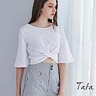 五分袖扭結上衣 TATA