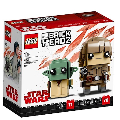 【LEGO樂高】BrickHeadz系列 41627 星際大戰 天行者路克&尤達