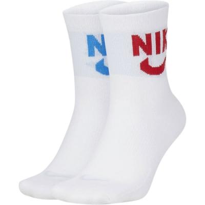 NIKE 襪子 訓練襪 4雙組 中筒襪 籃球 運動 白 SK0204902 U NK HERITAGE ANKLE 2PR