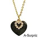 A-Surpriz 真心珍愛晶鑽項鍊(黑)