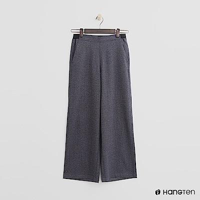Hang Ten - 女裝 - 混織鬆緊寬褲-藍