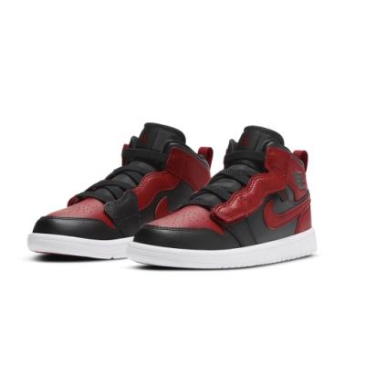 NIKE 籃球鞋 喬丹 AJ 運動鞋 包覆 中童 童鞋 兒童 紅黑 AR6351074 JORDAN 1 MID ALT PS
