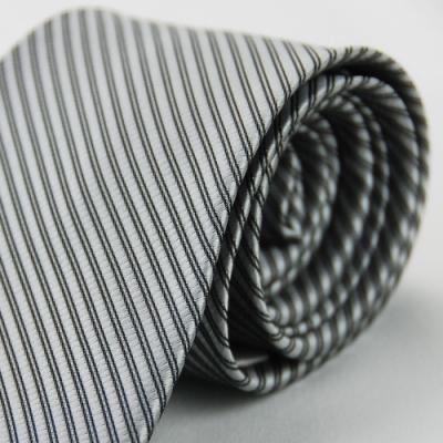 Alpaca 灰色黑斜紋領帶fast
