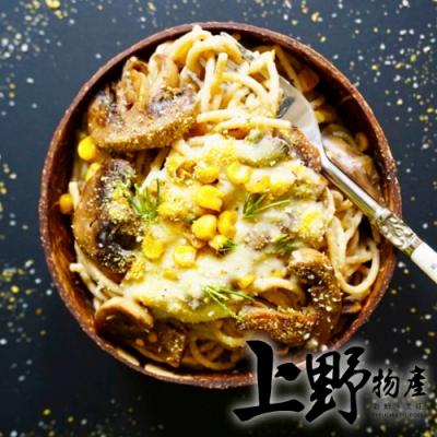 上野物產-薩莫里白醬玉米義大利麵 x24包(麵體+醬料包 300g土10%/包)