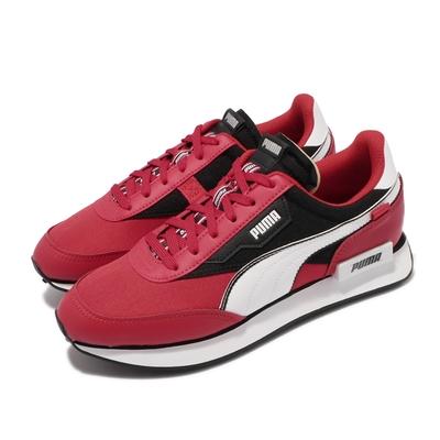 Puma 休閒鞋 Future Rider Strike 女鞋 復古 穿搭 皮革鞋面 日常百搭 紅 白 368621-03