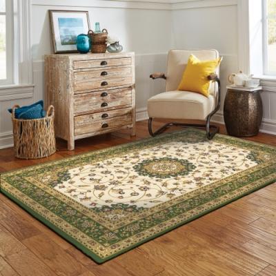 范登伯格 - 布里斯托 進口仿羊毛地毯 - 紛花(綠) (100 x 150cm)