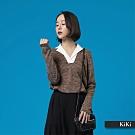 【KiKi】襯衫領造型-針織衫(二色)