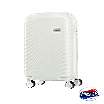 AT美國旅行者 20吋Erie流線硬殼飛機輪TSA登機箱(象牙白)