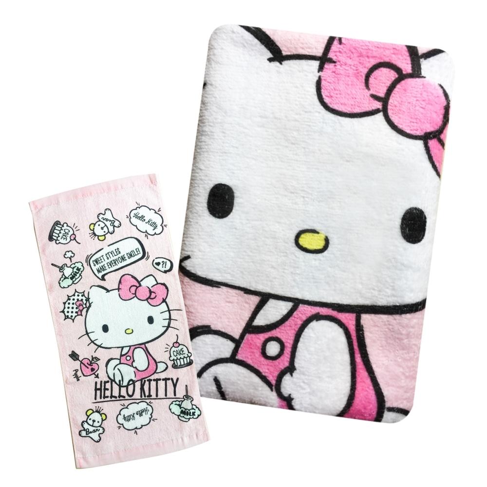 Sanrio三麗鷗授權-Hello Kitty凱蒂貓的最愛童巾 6入