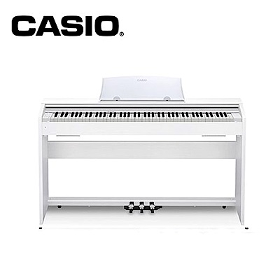 CASIO PX770 WE 88 鍵數位電鋼琴 古典白色款