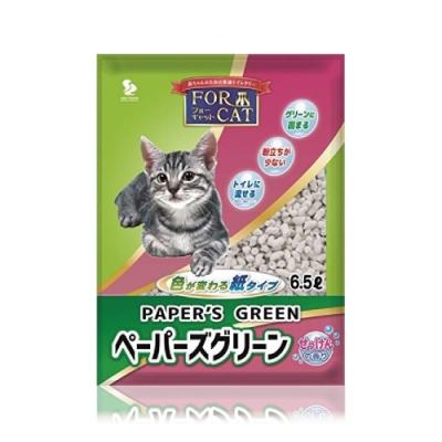 日本FORCAT-變色凝結紙貓砂-肥皂香6.5L 六包組