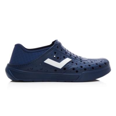 【PONY】ENJOY懶人後跟輕量透氣水陸洞洞鞋 拖鞋 雨鞋 男女鞋 深藍