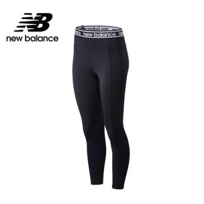 【New Balance】NB DRY 腰部Logo彈性緊身褲_女性_黑色_AWP01153BK
